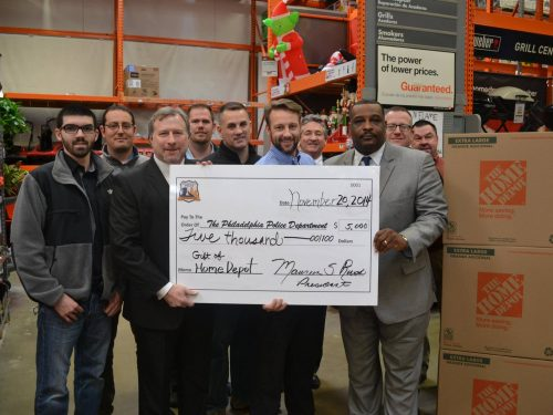 Home Depot Donating Check to PPF